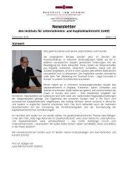 IUKR Newsletter - Dezember 2010