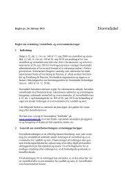 Regler om erstatning i stormflods - Stormrådet