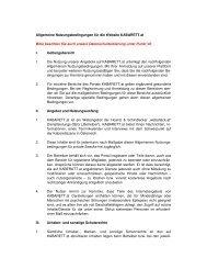 Allgemeine Nutzungsbedingungen für die Website KABARETT.at ...