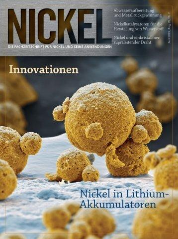 Innovationen Nickel in Lithium- Akkumulatoren - Nickel Institute