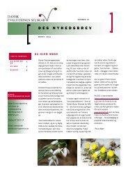 Nyhedsbrev 12. udgave, marts 2011 - Dansk Evalueringsselskab