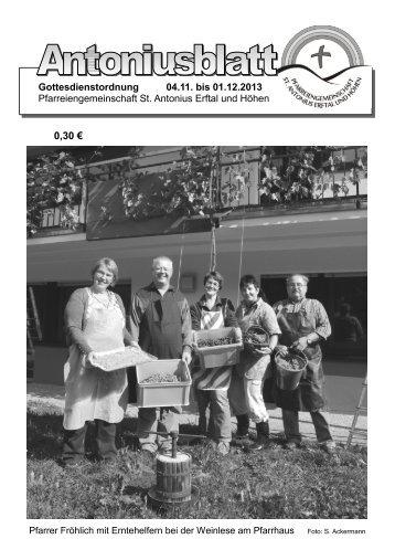 Gottesdienstordnung und Pfarrbrief vom 02.11.13 - Neunkirchen ...