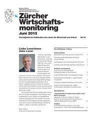 Zürcher Wirtschaftsmonitoring 02/13 (Juni 2013) (PDF, 2 MB)