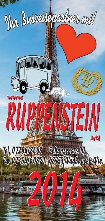 Reisekatalog 2014 - Ruppenstein