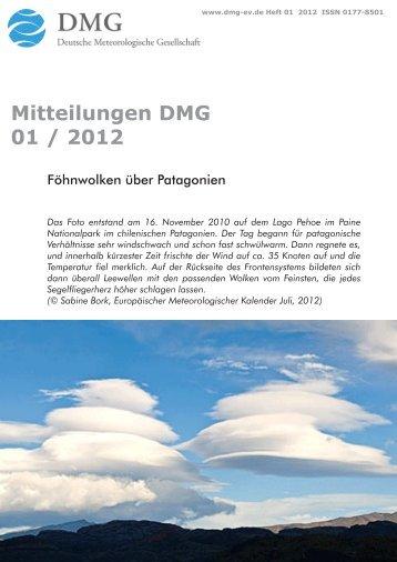 Mitteilungen DMG 01 / 2012 - School of Architecture - The Chinese ...