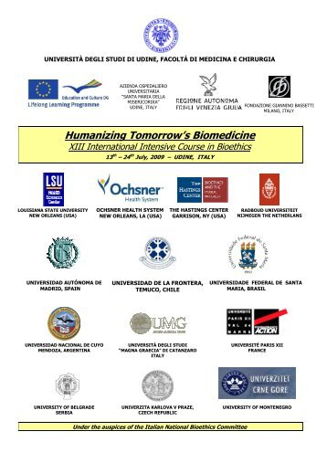 Humanizing Tomorrow's Biomedicine - Med.ufro.cl