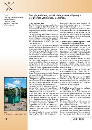 Energiegewinnung aus Grubengas des - Menteroda Recycling GmbH