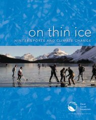 On Thin Ice: Winter Sports and Climate Change - David Suzuki ...