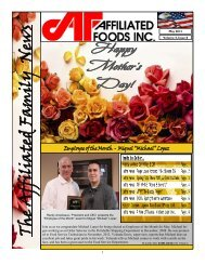 Read Newsletter + - Affiliated Foods Inc