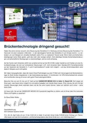 Einladung zur HMI 2012 [PDF] - SSV Software Systems