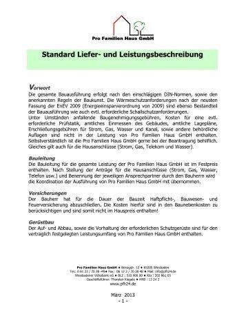 Pro Familien Haus leistungsbeschreibung dms integration standard optional