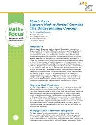 The Underpinning Concept - Houghton Mifflin Harcourt