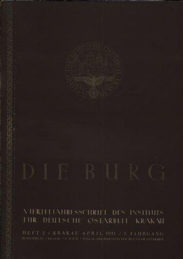 viertei jahresschrift dfs instituts iur deutsche ostarbeit krakau