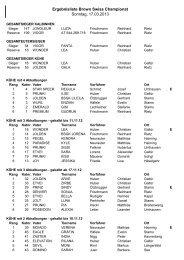 Ergebnisliste Brown Swiss Championat 2013 - Braunvieh Tirol