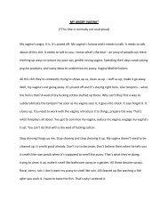 MY ANGRY VAGINA - MU Vagina Monologues