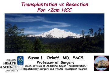 Transplantation vs Resection For