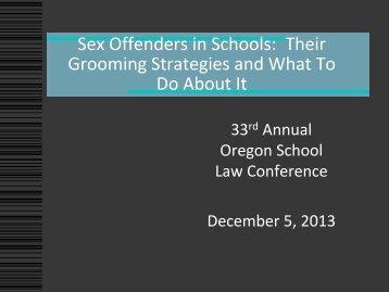 Sex Offenders in Schools - Confederation of Oregon School ...