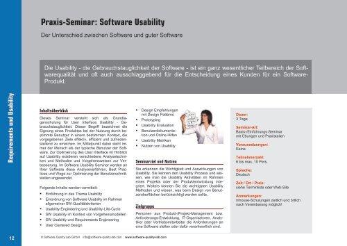 Aktuelles Seminar-Programm [PDF] - Software Quality Lab