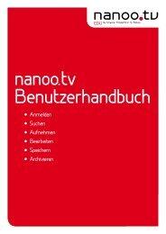 Anmelden Suchen Aufnehmen Bearbeiten Speichern ... - Nanoo.tv