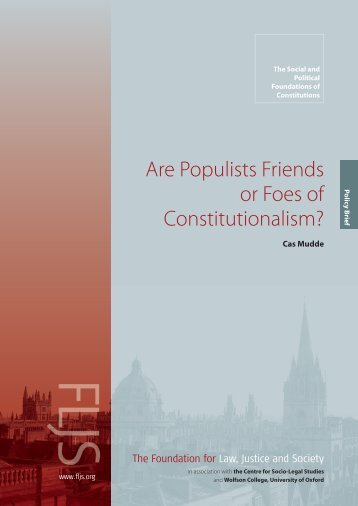 Are Populists Friends or Foes of Constitutionalism? - Foundation for ...