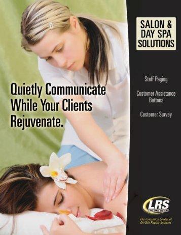 Spa & Salon Brochure - Pager.net