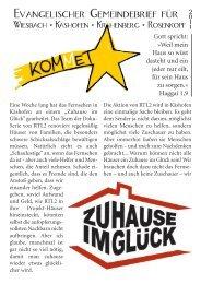 Evangelischer Gemeindebrief für - Kirchengemeinde Wiesbach