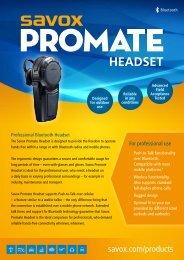 Savox BTH-101 Bluetooth Headset - Talking Headsets