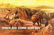 WHEN BIG GAME WAS BIG Short-faced bears standing 12 feet tall ...