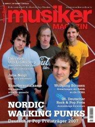 Archiv: Musiker Magazin 03/2008 (PDF) - Musiker Online