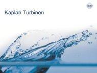 Kaplan Turbinen - Kössler