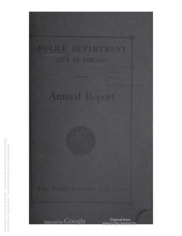 Annual report / Police Department, City of ... - Chicago Cop.com