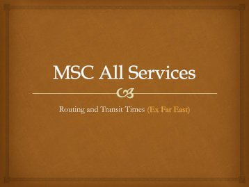 MSC All Services