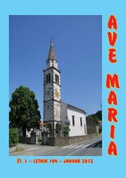ŠT. 1 — LETNIK 104 — JANUAR 2012 - Ave Maria Lemont