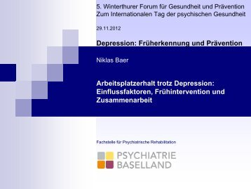 Arbeitsplatzerhalt trotz Depression: Einflussfaktoren ...