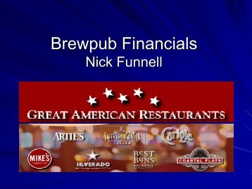 Making Beer Make Money Nick Funnell