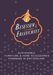 sustainable furniture & home accessories handmade in switzerland