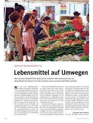 Lebensmittel auf Umwegen - VCS Verkehrs-Club der Schweiz