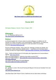 Février 2011 Allemagne Canada - Organic-E-Publishing-International