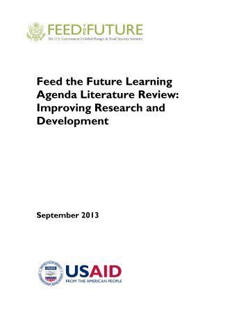 Research and Development Literature Review - Agrilinks