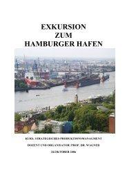 EXKURSION ZUM HAMBURGER HAFEN