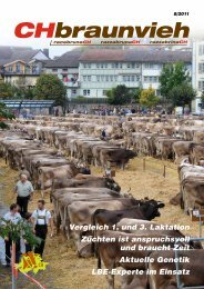 CHbraunvieh 08-2011 Teil 1 - Schweizer Braunviehzuchtverband