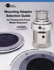 Mounting Adaptor Selection Guide - InSinkErator
