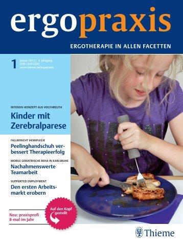 """Artikel aus der Zeitschrift """"Ergopraxis"""", Januar 2013"""