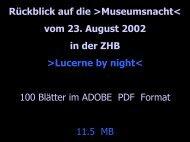 Lucerne by night - Zentral- und Hochschulbibliothek Luzern