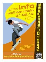 PDF der Broschüre mit weiteren Informationen - Ausbildungsbörse ...