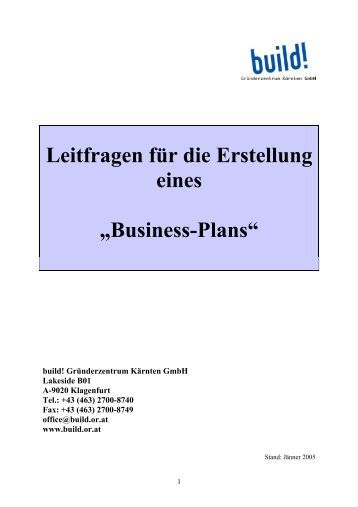 Businessplan im Katalog WebFee