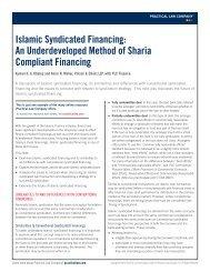 Islamic Syndicated Financing - Vinson & Elkins LLP