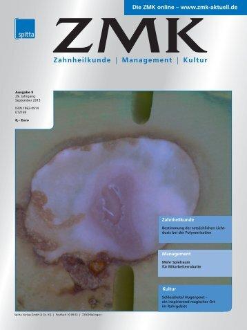 Ausgabe 9/2013 - ZMK-Aktuell