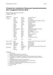 Sitzung vom 9. September 2013 - Quartierkommission Länggasse
