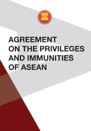AGREEMENT ON THE PRIVILEGES AND IMMUNITIES OF ASEAN